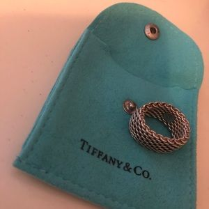 Tiffany and co mesh silver ring